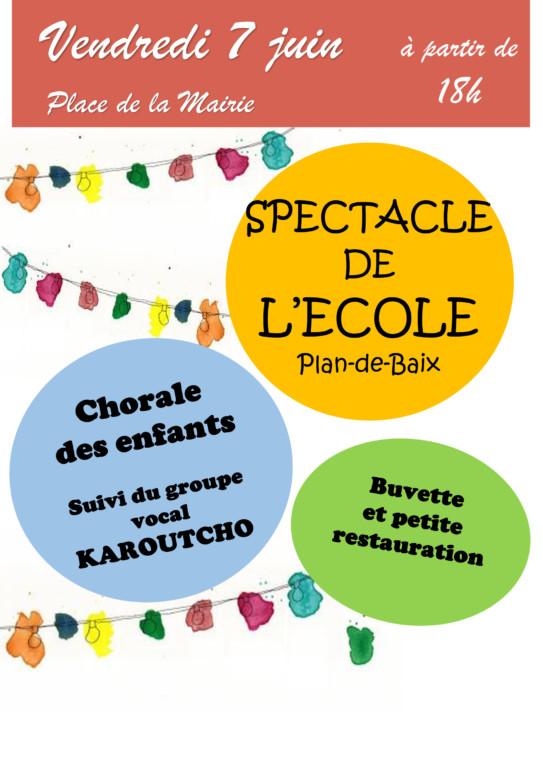 Spectacle de l'Ecole de Plan de Baix @ Salle Associative | Plan-de-Baix | Auvergne-Rhône-Alpes | France