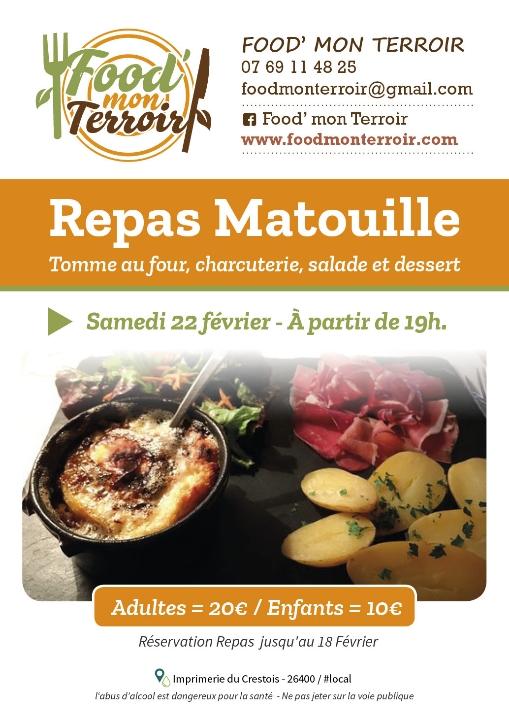 Plan de Baix - Samedi 22 Février : Repas Matouille.... @ Salle Associative | Plan-de-Baix | Auvergne-Rhône-Alpes | France